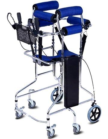 SXTYRL Plegable caminador deambulador Andador con Ruedas de 6 Ruedas- Altura Ajustable para el Entrenamiento