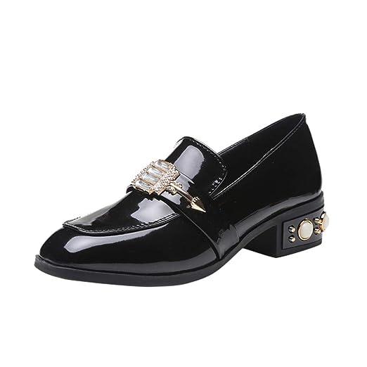 399bd364d64b4 DENER❤ Women Slip on Oxfords Slip on Loafers, Patent Leather Low ...