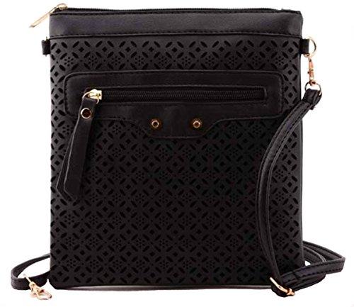 Clutch Bags Black Women Autumn Medium Blazing Crossbody Travel Shoulder xZO6cF