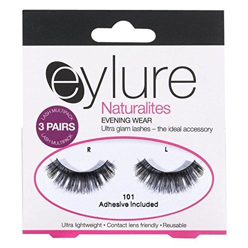 Eylure Naturalites 101夜は3のマルチまつ毛パックを着用します (Eylure) (x2) - Eylure Naturalites 101 Evening Wear Multi Lashes Pack of 3 (Pack of 2) [並行輸入品] B01N01WKI0