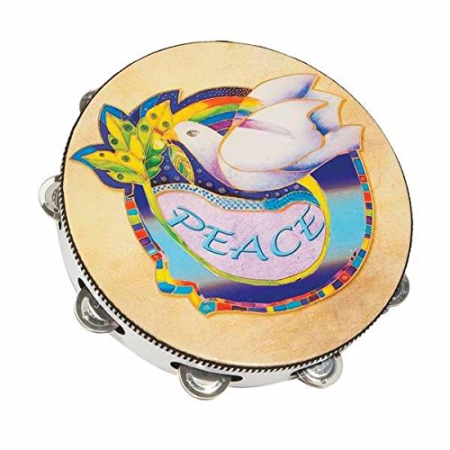 Holy Land Gifts 106614 Instr Tambourine 10 In. Round Dove Symbol Of ()