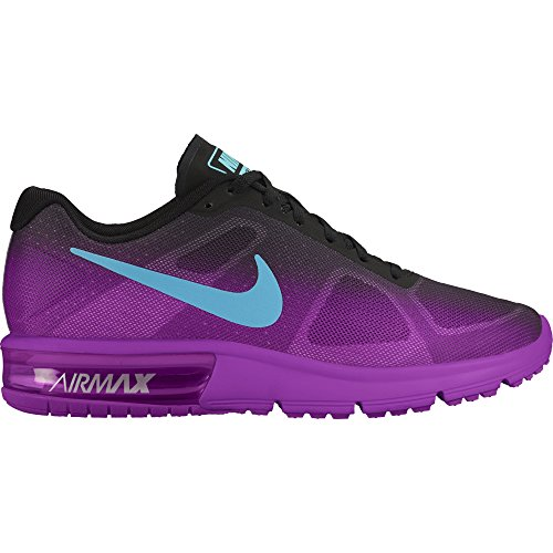 Women's Nike Air Max Sequent Running Shoe Black/Hyper Vio...