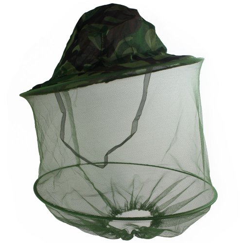 Camouflage Mosquito Hat with Head Net Mesh – Malaria Net. (Free Mosquito Repellent). Bug Hat / Insect Hat Repels Bugs From Face. Mosquitoes Hat Has Mosquito Netting Protecting Face and Head From Insects (Mosquitoes, Bees, Gnats, Etc.) ONE Size Fits Most Mosquito Netting Hat., Outdoor Stuffs