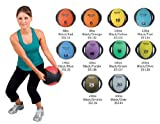 AeroMat Dual Grip Fitness Power Medicine Ball 6 - 30 lb (Select Your Weight)