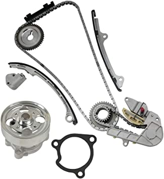 Evergreen TK3032OP Fits Nissan DOHC QR25DE Timing Chain Kit w//Oil Pump