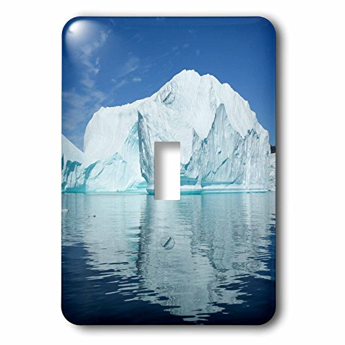3dRose Danita Delimont - Greenland - Greenland, Scoresby Sund, Red Island, large icebergs in calm waters. - Light Switch Covers - single toggle switch (lsp_249628_1) -