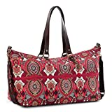 Sakroots Women's New Adventure Orchard Travel Duffel Bag, Ruby Wanderlust, One Size