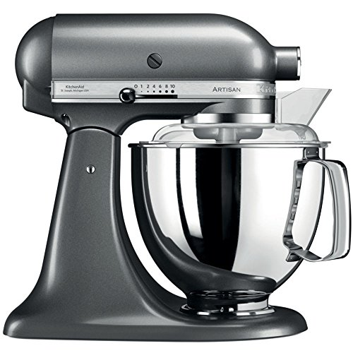 KitchenAid Artisan 5KSM175PSEMS 5 Qt.Stand Mixer Medallion Silver with TWO Bowls & Flex Edge Beater 220 VOLTS NOT FOR USA