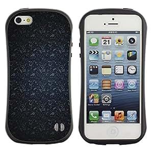 """Pulsar iFace Series Tpu silicona Carcasa Funda Case para Apple iPhone 5 / iPhone 5S , Patrón Azul marino Gris"""""""