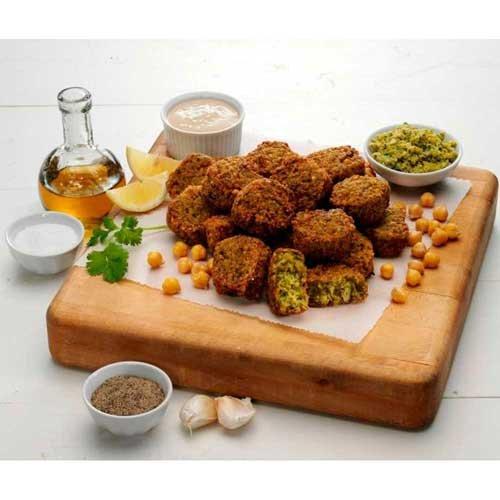 Spice Falafel (Grecian Delight Uncooked Puck Falafel Fritter, 4 Pound - 4 per case.)