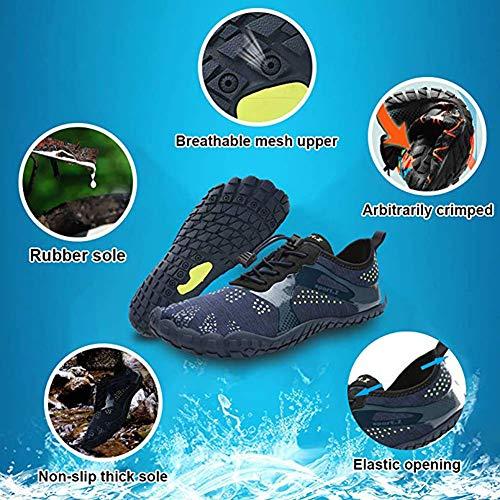 Uomo Trekking Immersione Canottaggio Blu Fitness Spiaggia Yoga Da Naturale Palestra Scarpe Running Donna A Swim Barefoot Scuro Camminare Surf Tqgold® Trail Per w8ExIqvqf