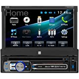 Dual Electronics DV516BT Multimedia Detachable 7 inch Touchscreen Single DIN Car Stereo with Built-In Bluetooth, CD/DVD, MP3 & microSD Card Players