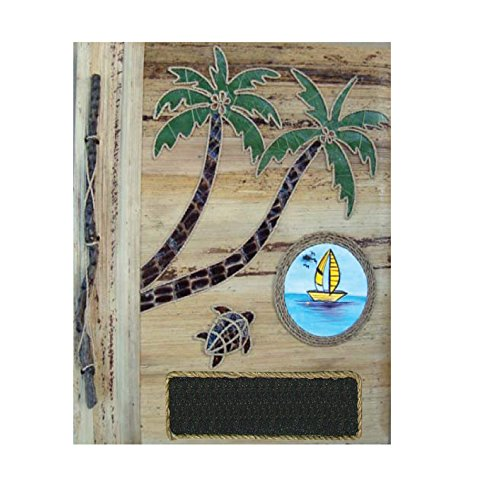 (Rockin Gear Photo Album Palm Tree Banana Leaf Handcrafted Portrait Style Photo Album Eco Friendly 12