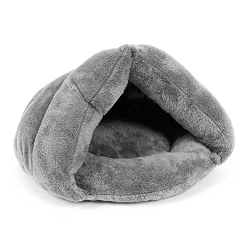 UEETEK Pet Dog Puppy Cat Kitten Chihuahua Soft Cotton Bed House Sleeping Bag (Grey)