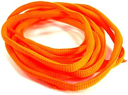 靴ひも 靴紐 シューレース 丸紐 オレンジ 蛍光色 ETSR-605 くつひも 105cm SHOELACE