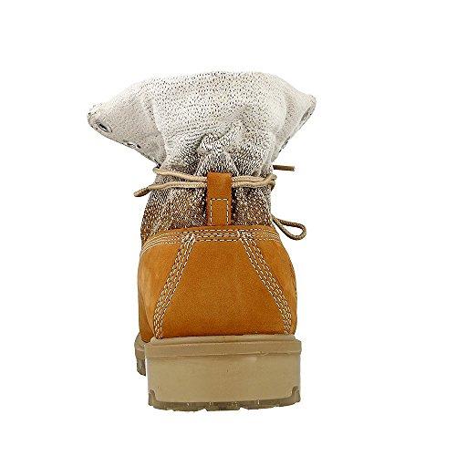 Timberland TPU Roll Top FF AF Wheat - CA191D - Farbe: Honigfarbig-Weiß - Größe: 44.5