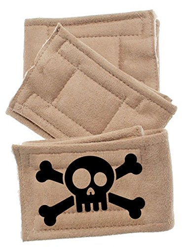 Pet Flys Skull Peter Pads (3 Pack), X-Small