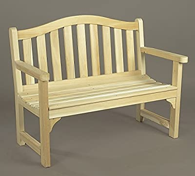 Rustic Natural Cedar Wooden 4 Foot Camel Back Settee Outdoor Patio Bench (050506C)