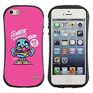 Suave TPU GEL Carcasa Funda Silicona Blando Estuche Caso de protección (para) Apple Iphone 5 / 5S / CECELL Phone case / / Teal Cartoon Zombie Funny Zombie /