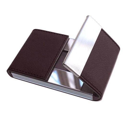 Inkach id credit card holder mens business card cases wallet inkach id credit card holder mens business card cases wallet protector double open brown colourmoves