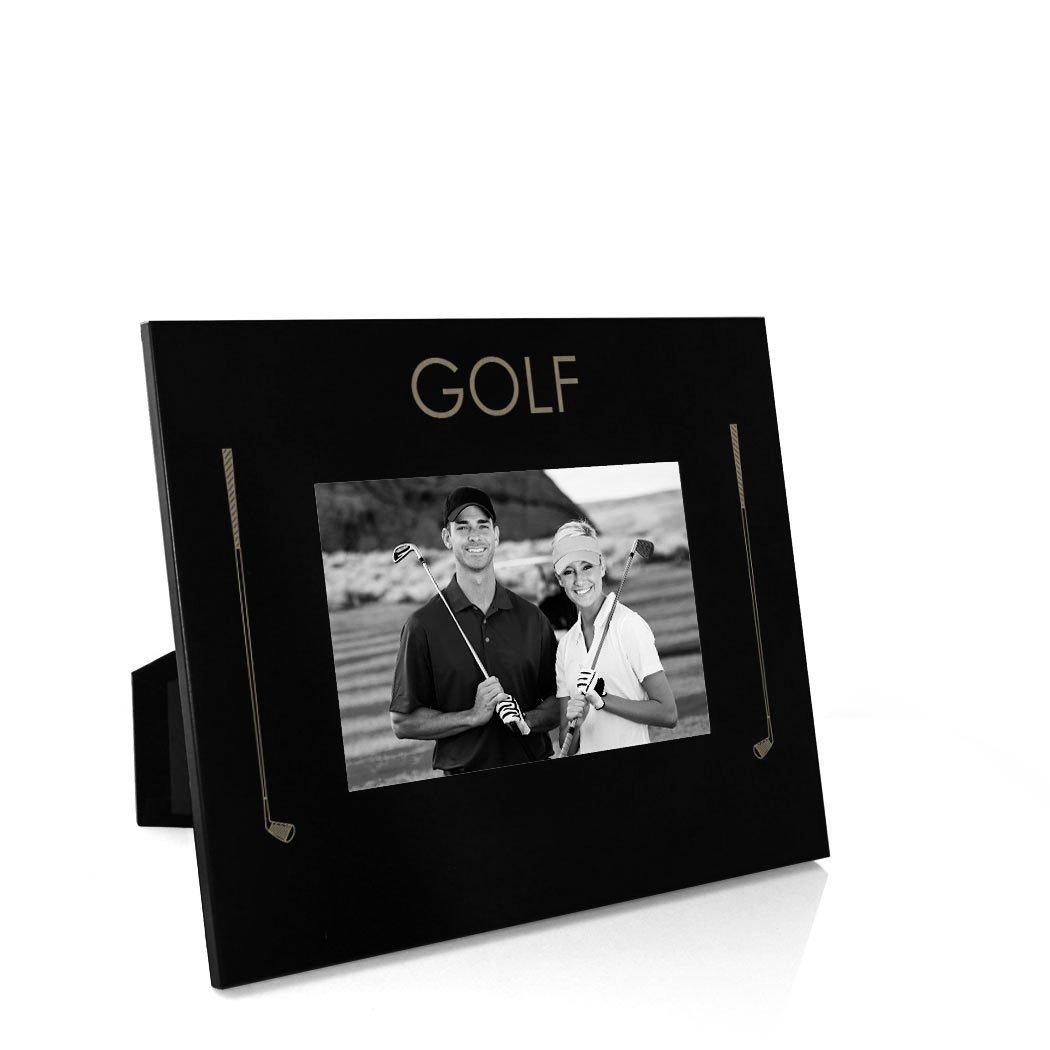 Golf Word Frame   Engraved Golf Picture Frame by ChalkTalk Sports   Horizontal 4X6
