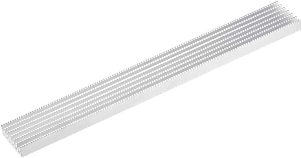 sourcing map 6x150x20mm Silver Tone Aluminum Heatsink Thermal Adhesive Pad Cooler for Cooling 3D Printers