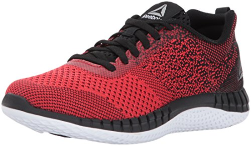 Reebok Unisex-Kids RBK Print Run Prime Ultk Sneaker, Primal Red/Black/White/PE,4,Big Kids by Reebok