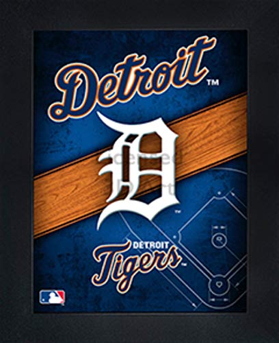 """(Detroit Tigers 3D Poster Wall Art Decor Framed 