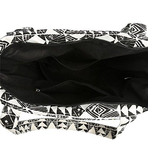 Black Bag Women's Tote White beige Mailanda Très beige Chic pq0fAIfO