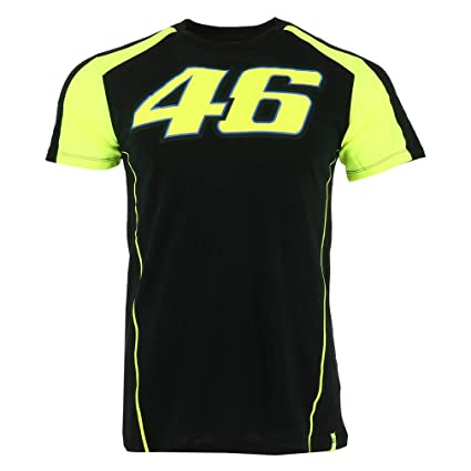 Valentino Rossi Vr46 Moto Gp Race Logo Schwarz T Shirt Offiziell