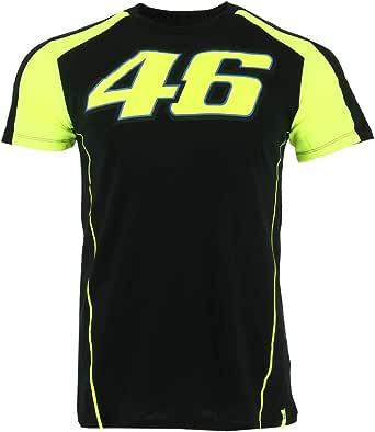 Valentino Rossi VRMTS306004003 - Camiseta VR46 para Hombre, Negra, pequeña, 98 cm
