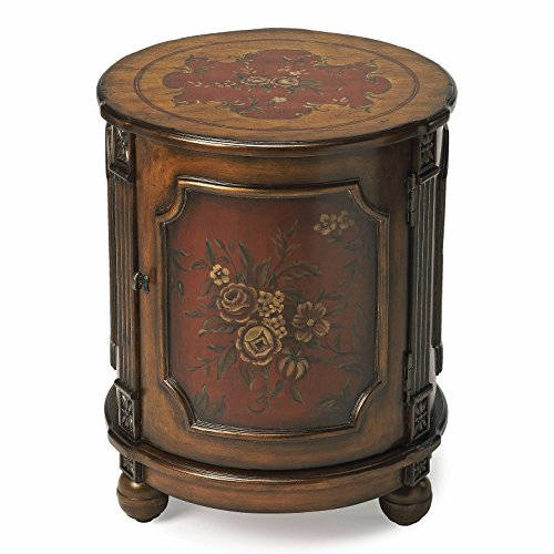- Kensington Row Furniture Collection END Tables - HILLWOOD Hand Painted Floral Drum Table - END Table - Side Table - LAMP Table