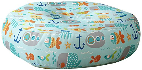 Deny Designs Wendy Kendall Floor Pillow, Sealife by Deny Designs