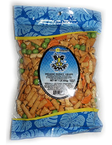 Deluxe Honey Arare Da Big Pounder Japanese Rice Cracker Mix (1 pound bag)