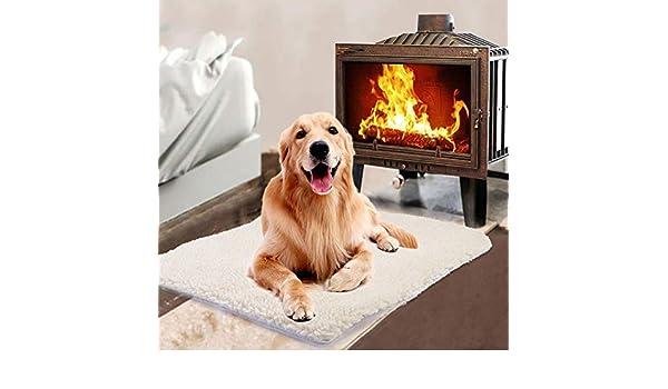 Coseyil Autocalentamiento Snooze Pad Pet Bed Mat Auto Calentador de alfombras para Mascotas Gatos Perros Almohadillas de Aluminio Sin Enchufe para Viajes o ...