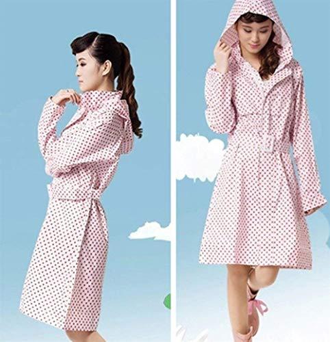 Impermeable Eva Lluvia Transpirable De Senderismo Polka Dots Rose Mujeres Casuales Jacket Poncho Rain Battercake qEtAW8ng