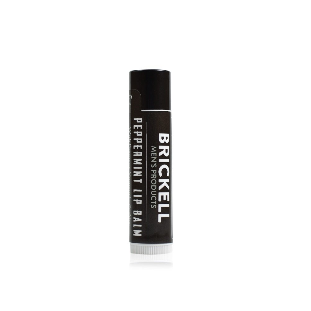 Brickell Men's No Shine Lip Balm for Men, Natural and Organic Matte Finish Chapstick to Moisturize and Protect With SPF 15, .15 Ounce, Scented