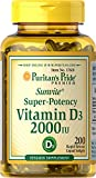 Puritan's Pride Vitamin D3 50 mcg (2000 IU)-200 Softgels For Sale