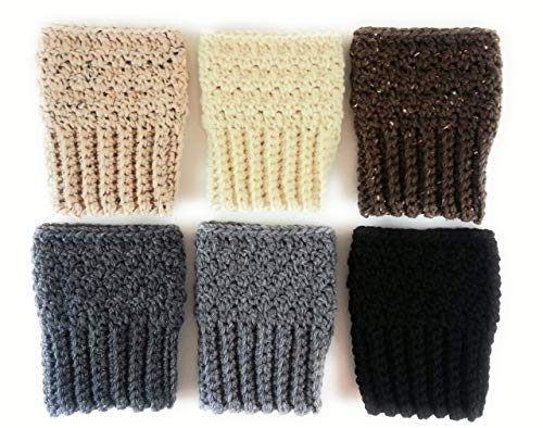 (Wide Calf Boot Cuffs Toppers Leg Warmers for Women Peruvian Wool Made in)