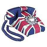 Design Toscano British Flag Antique Union Jack Rotary Corded Retro Phone - Vintage Decorative Telephones one Size Full Color