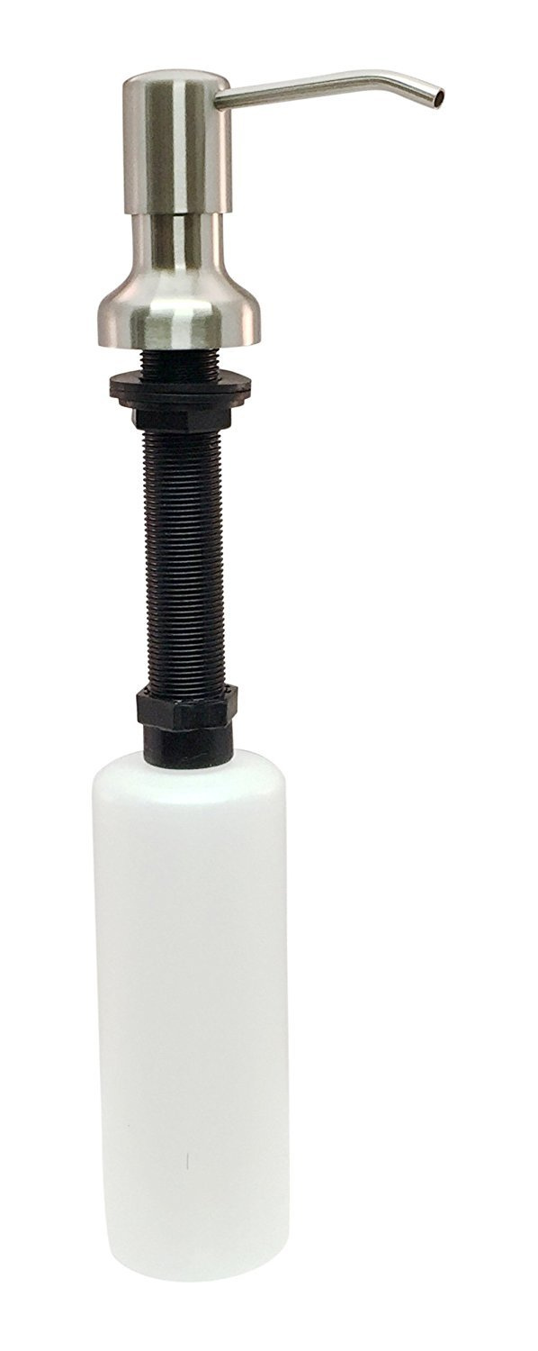 Ultimate Kitchen Stainless Steel Sink Soap Dispenser - Model SSD3 (Satin) - Large Capacity 17 OZ Bottle - Easy Installation (Video Guide Included) - 5 Yr Replacement Warranty by Ultimate Kitchen (Image #7)