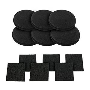 12 piezas filtros de carbón activado para compost filtros de ...
