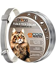 ONMOG Cats Collar, 13 Inches Long Adjustable Collar for Cats, Natural Waterproof Collars, 12 Months Cats Collar