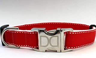 product image for Preppy Custom Dog Collar in Red M/L