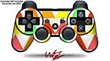 Sony PS3 Controller Decal Style Skin - Triangles Citrus (CONTROLLER NOT INCLUDED)