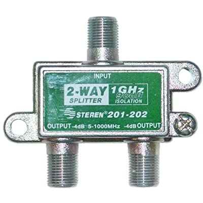 CableWholesale 1GHz 90dB 2-Way F-Pin Splitter (201-202)