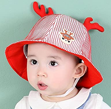 Ranvi Kids Fawn Sun Hats Caps Baby Girls Boys Beach Bucket Sun Protection Hat