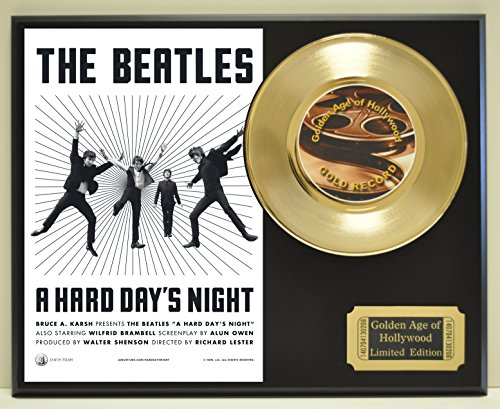 Hard Days Night Edition Gold 45 Record Display. Only 500 made. Limited quanities. FREE US SHIPPING