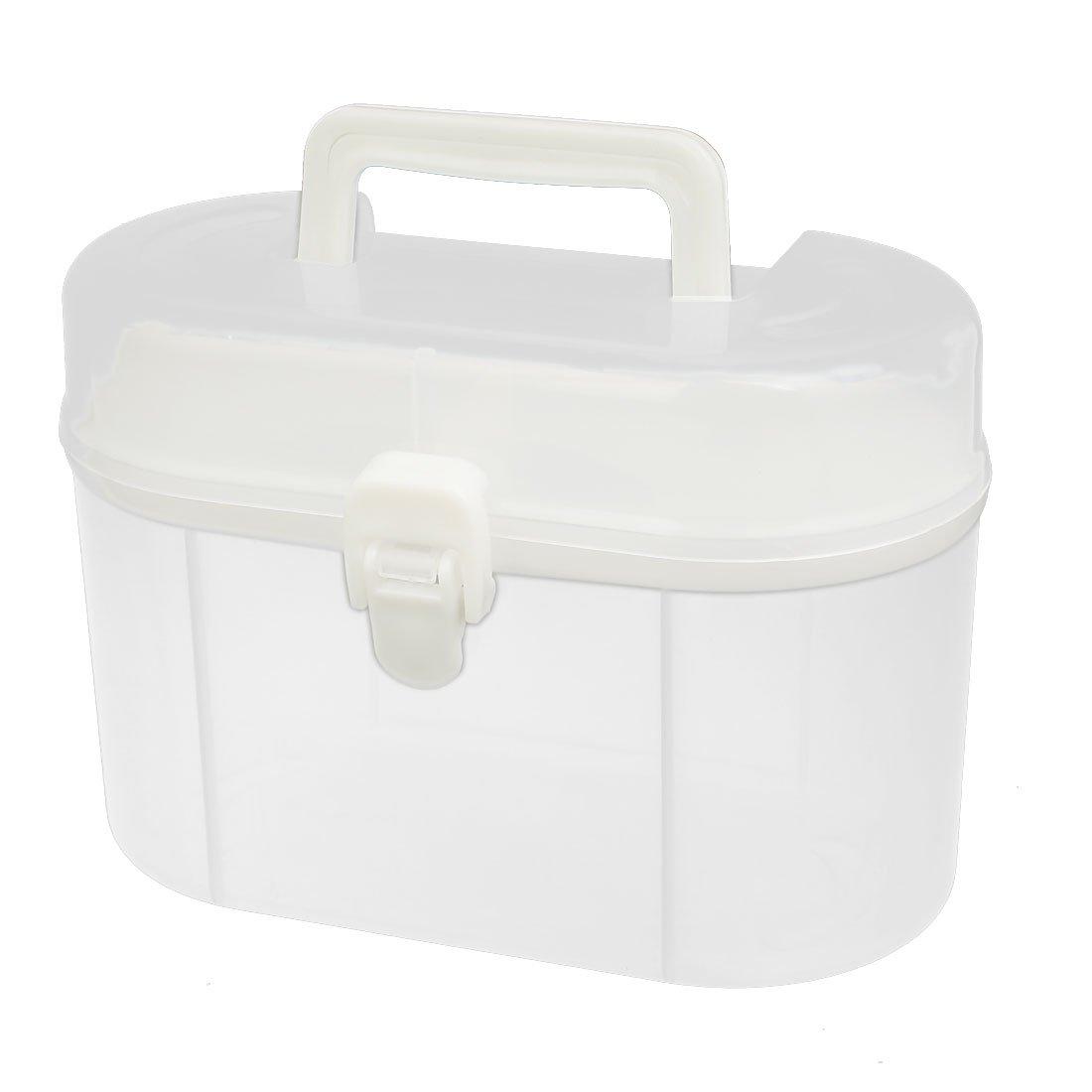 uxcell 180mmx90mmx125mm Plastic Portable Component Storage Organizer Case Toy DIY Tool