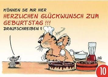 10er Pack Postkarte A6 Cartoon Von Modern Times Herzlichen